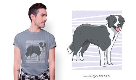 Diseño de camiseta border collie