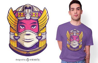 Diseño de camiseta de mascarilla Cleopatra.