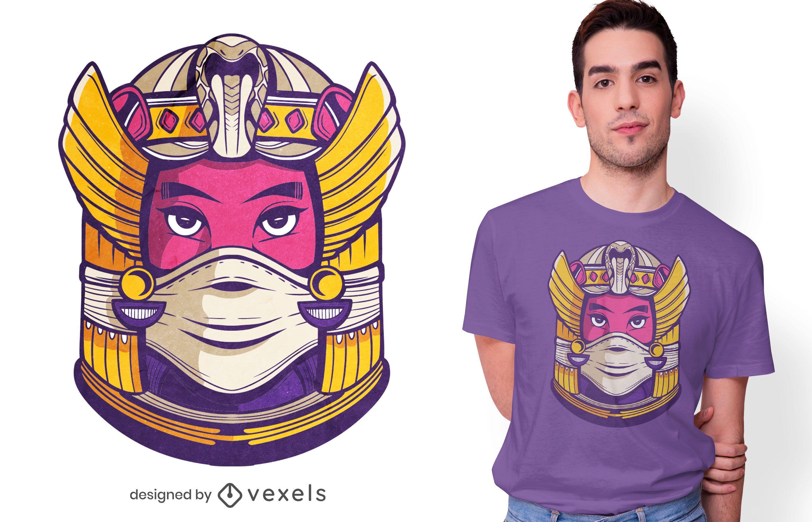 Cleopatra face mask t-shirt design