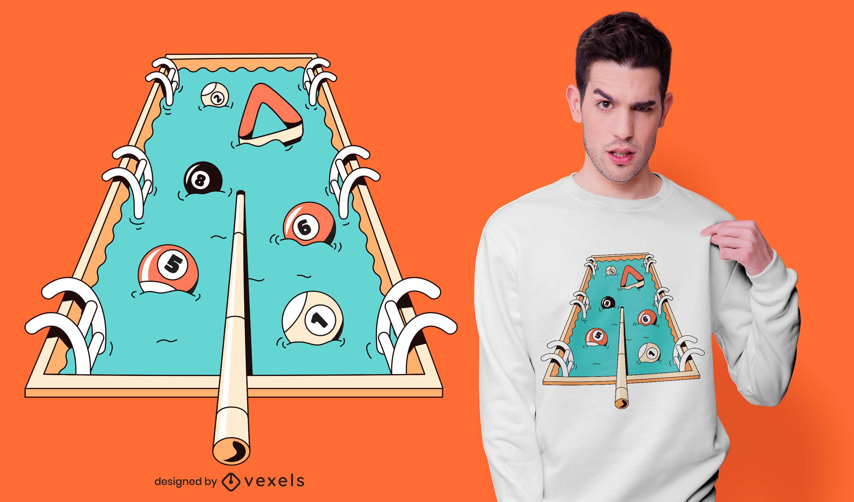 Pool pun t-shirt design
