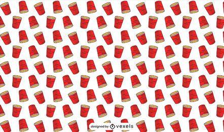 Projeto padrão de copos vermelhos