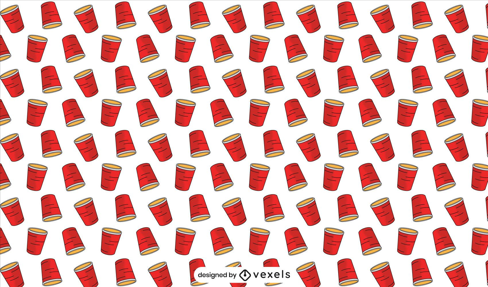 Red cups pattern design