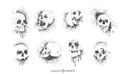 Cenografia de crânio de grafitti