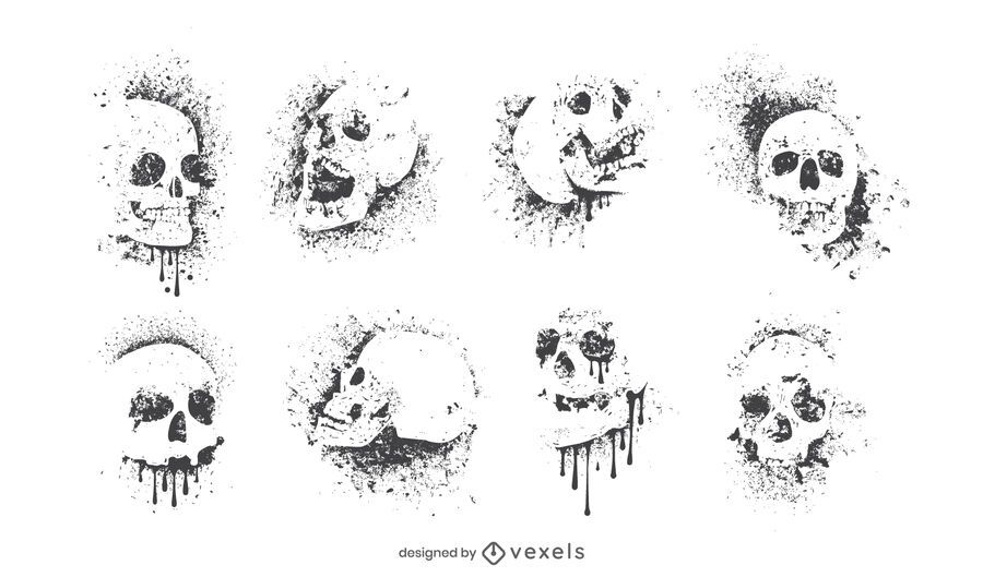 Grafitti skull set design