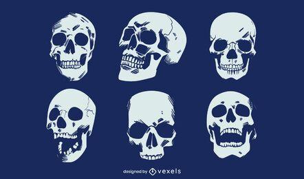 Diseño de cráneo de grunge