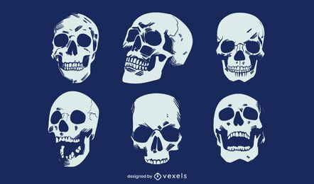 Grunge skull set design