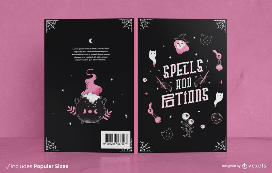 Spells and potions book cover design