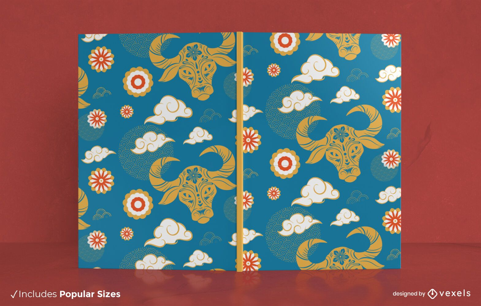 Año del diseño de la portada del libro del buey.