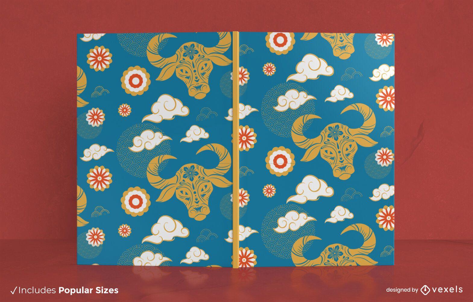 Design da capa do livro do ano do boi
