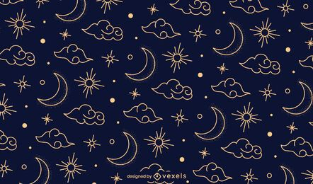 Night chinese pattern design