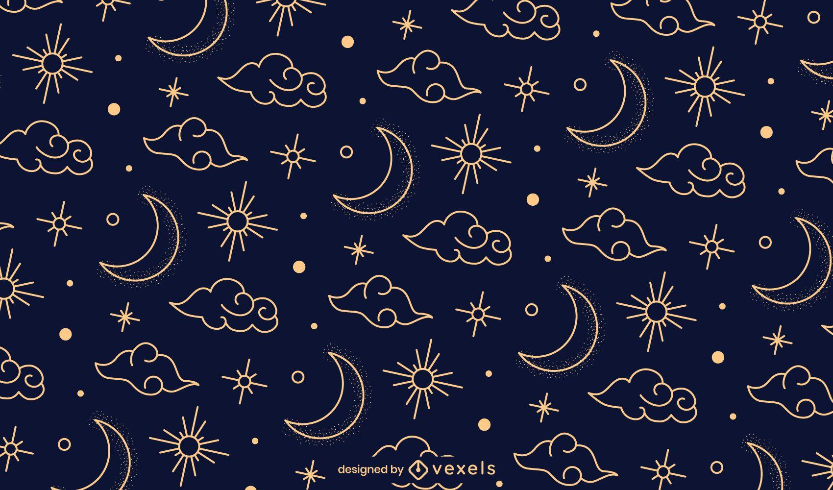 Night chinese pattern design