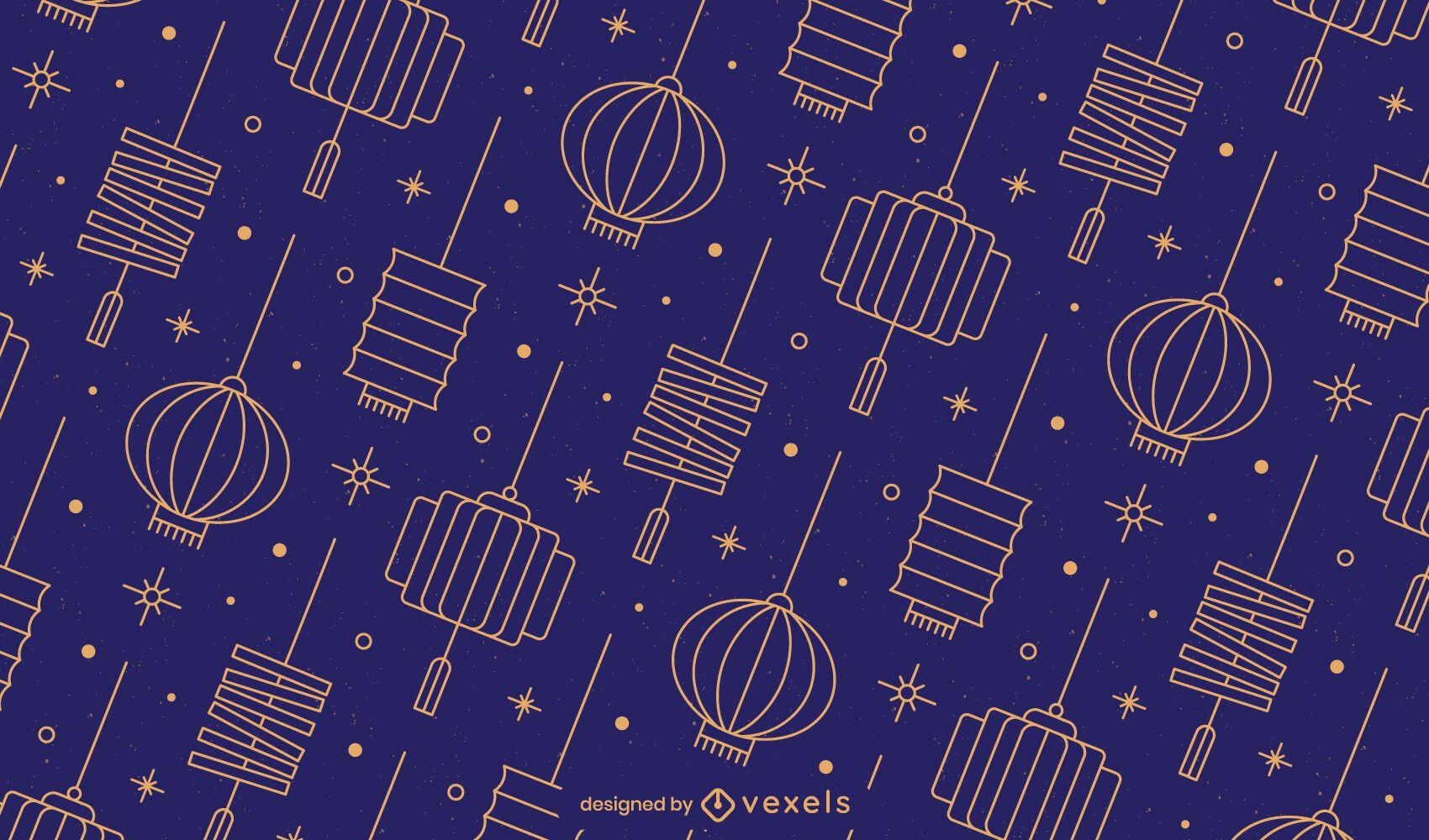 Chinese lanterns pattern design