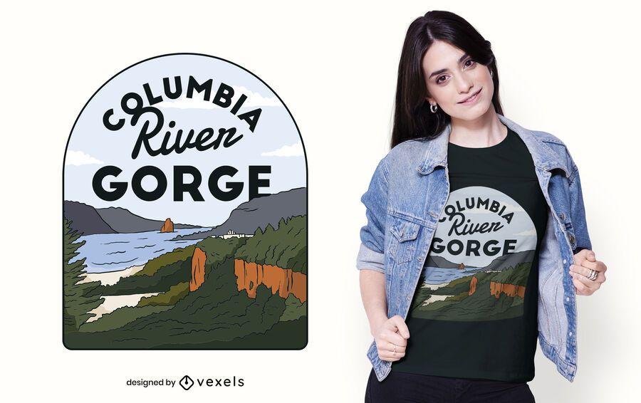 Design de camiseta do Columbia River Gorge