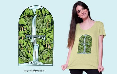 Waterfall t-shirt design