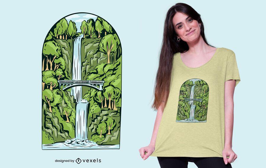 Projeto da camiseta da cachoeira
