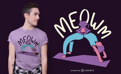 Meow yoga t-shirt design