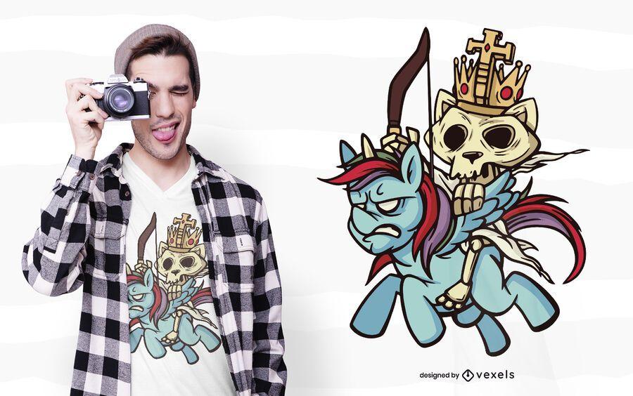 Conquest apocalypse horsecat t-shirt design