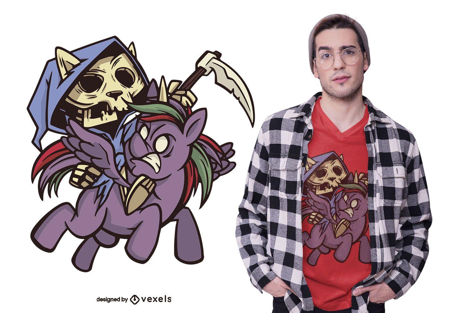 Death apocalypse horsecat t-shirt design