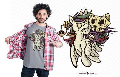 Famine apocalypse horsecat t-shirt design