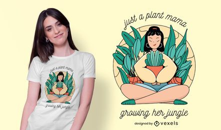 Diseño de camiseta plant mama