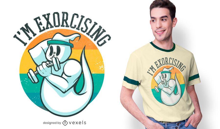 Exorcising ghost t-shirt design