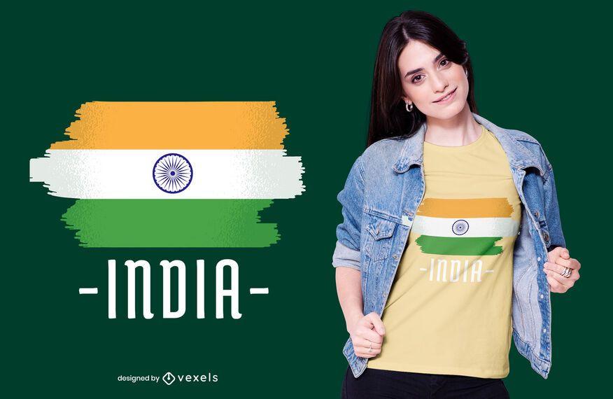 Diseño de camiseta de bandera nacional india