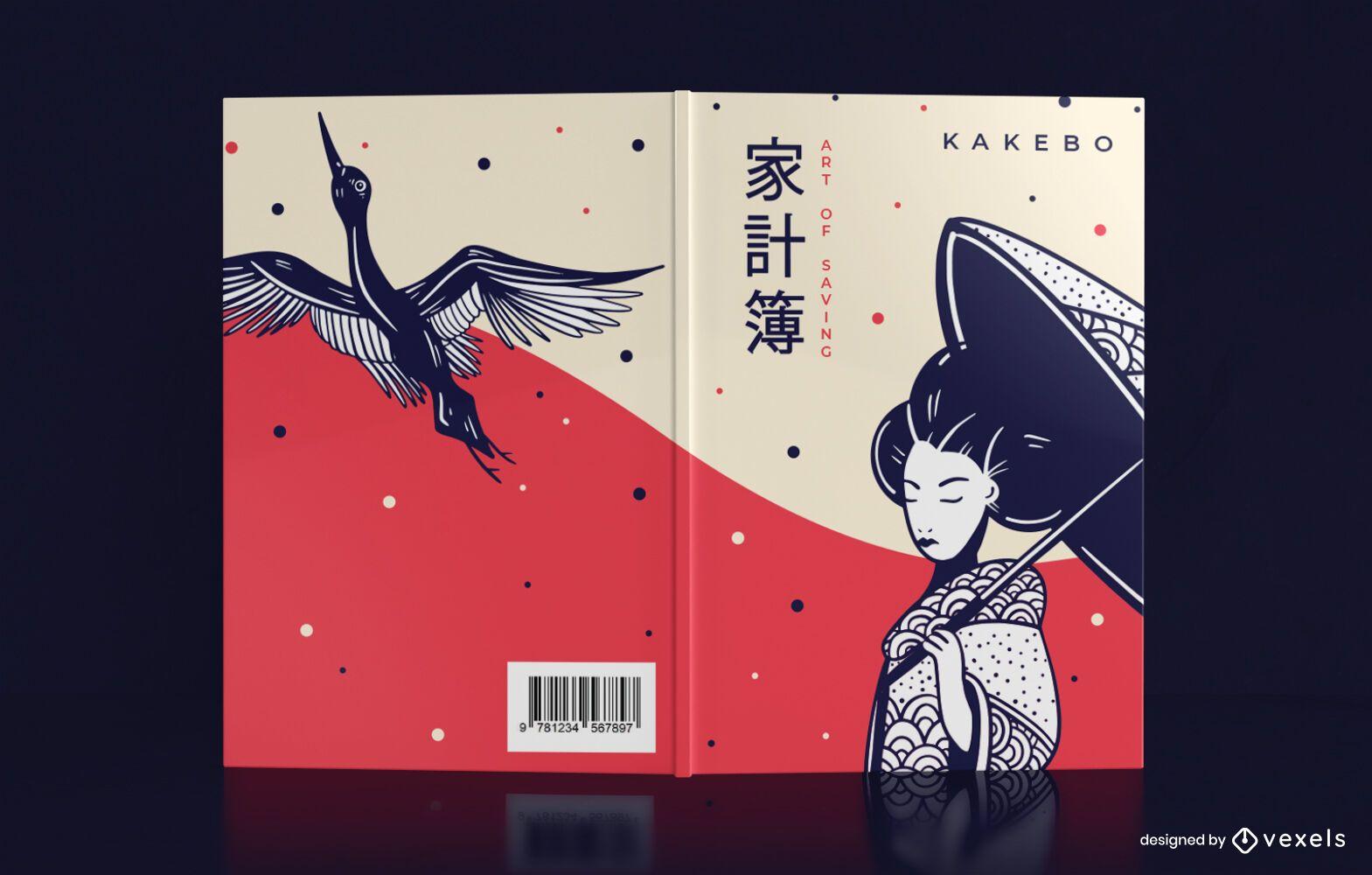 Desenho da capa do jornal Kakebo Saving