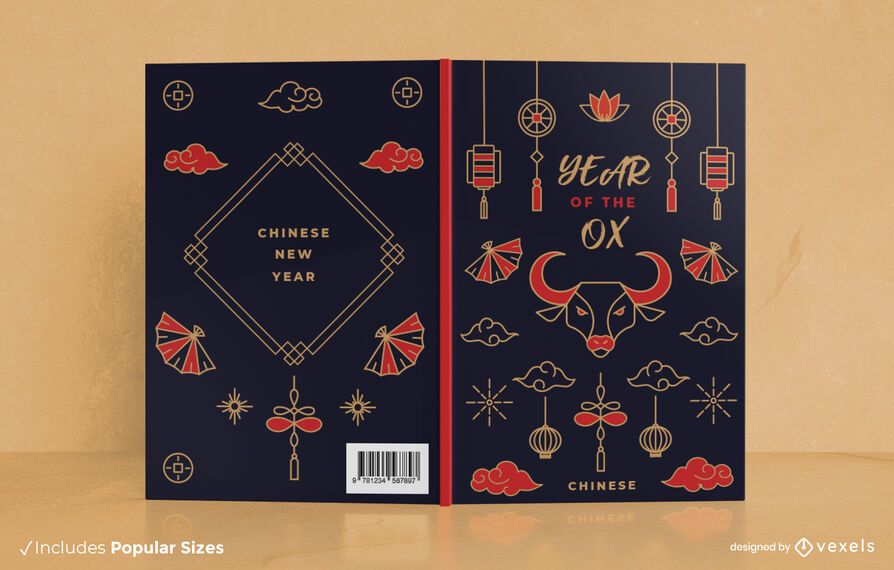 Chinese new year book cover design