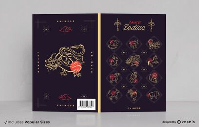 Design da capa do livro do zodíaco chinês