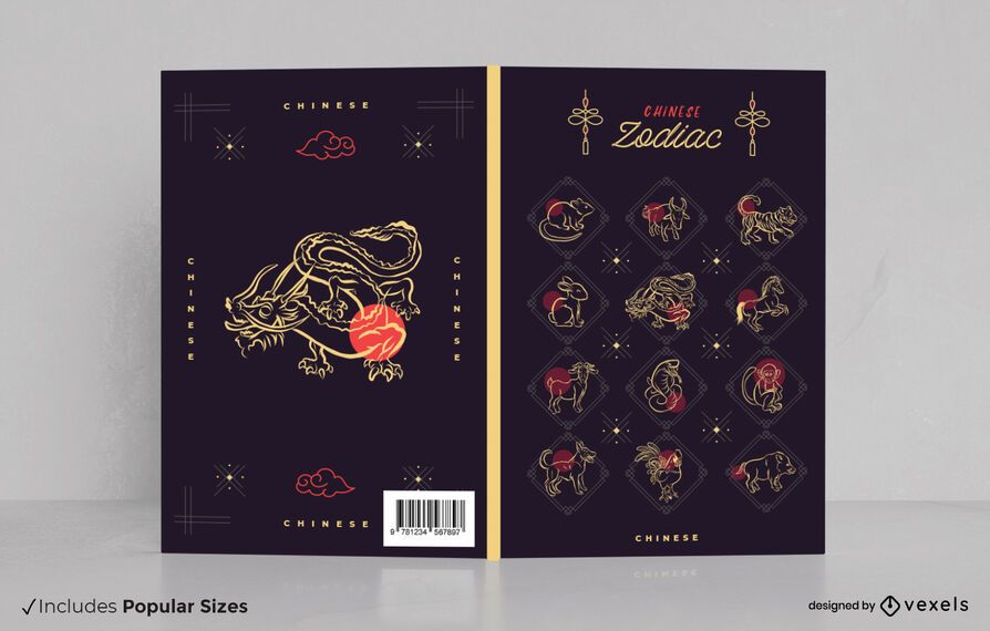 Chinese zodiac book cover design
