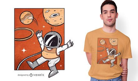 Design de camiseta de astronauta de basquete