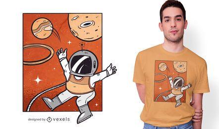 Diseño de camiseta de astronauta de baloncesto.