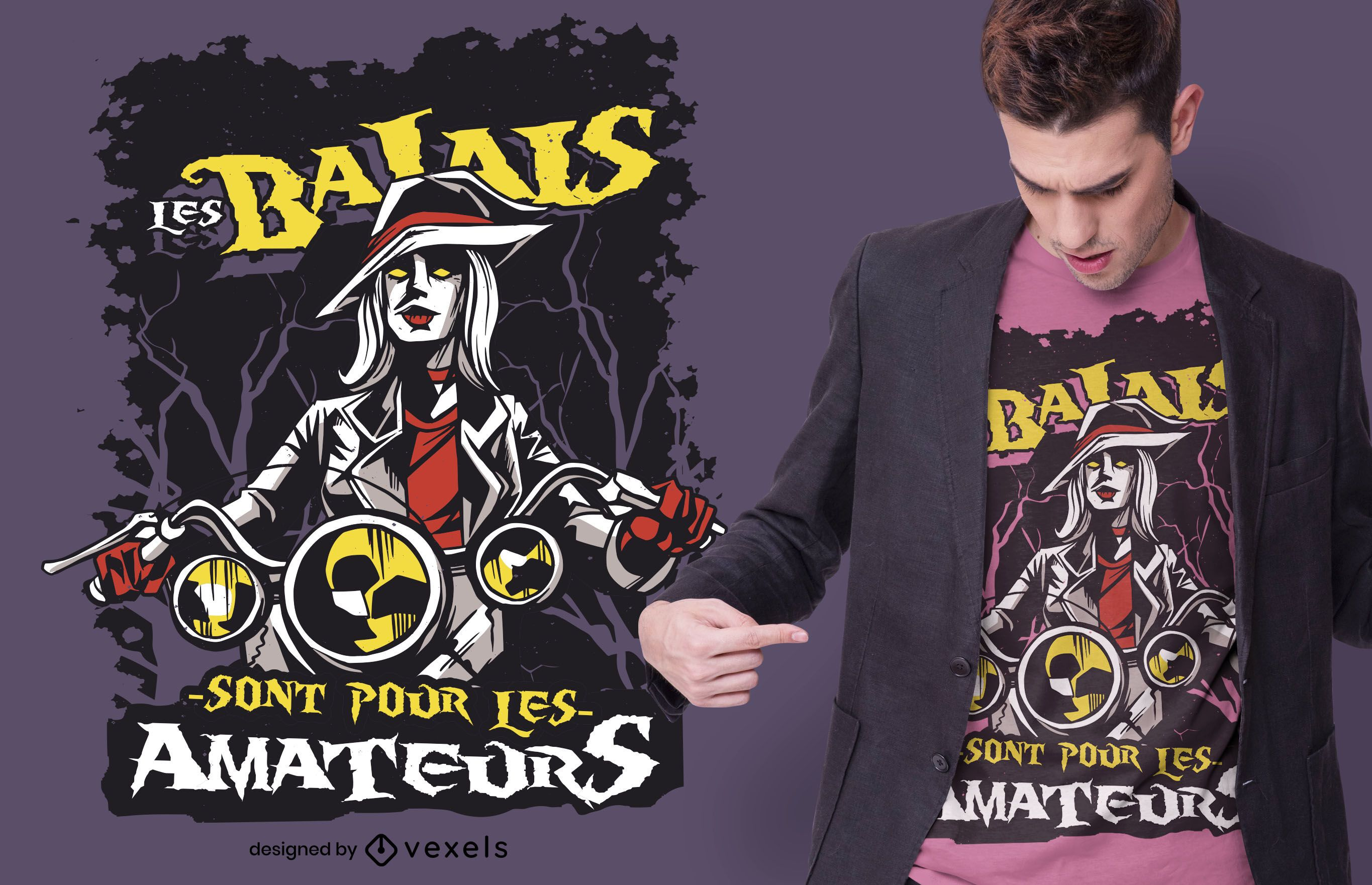 Witch french quote t-shirt design