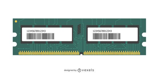 Memory module illustration design