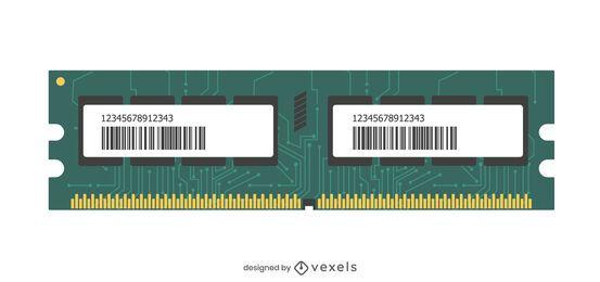 Memory module illustration design