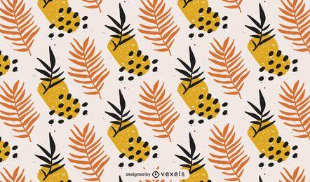 Diseño de patrón de ramas abstractas
