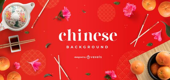 Projeto de plano de fundo de comida chinesa