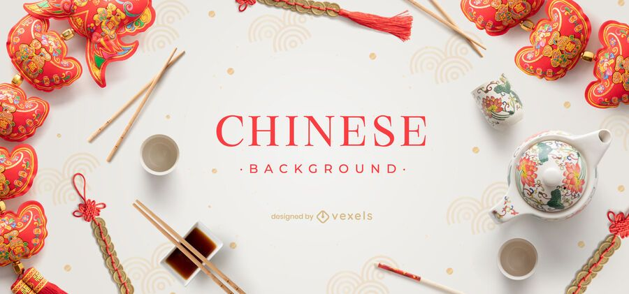 Projeto de fundo de elementos chineses