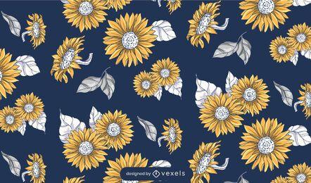 Sonnenblumenmusterdesign