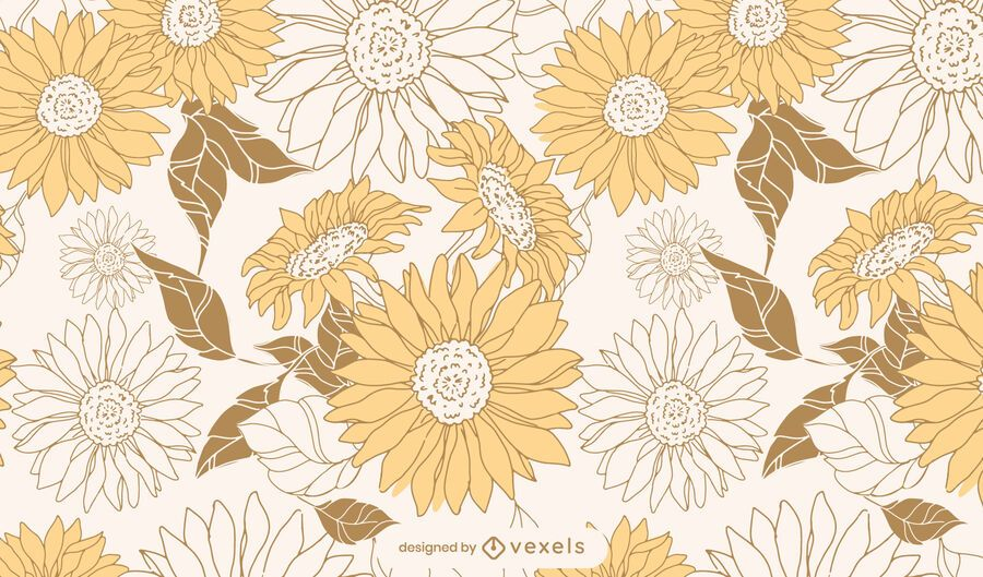 Sunflowers floral pattern design