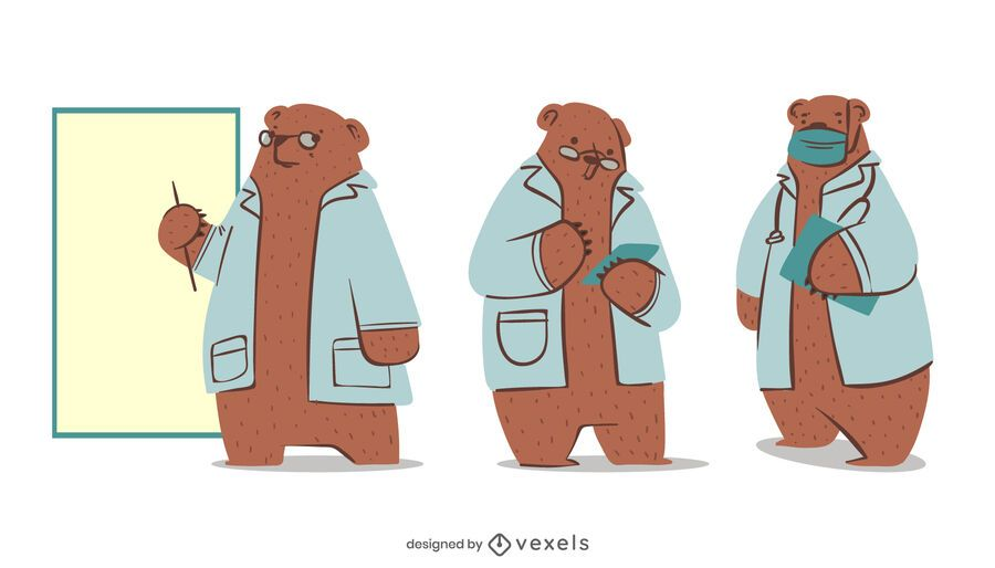 Bear doctor character set