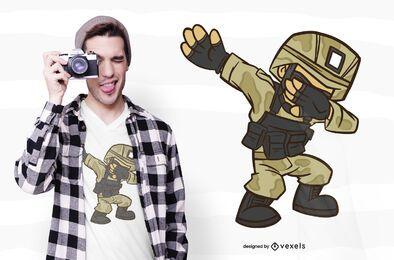 Diseño de camiseta Dabbing Soldier