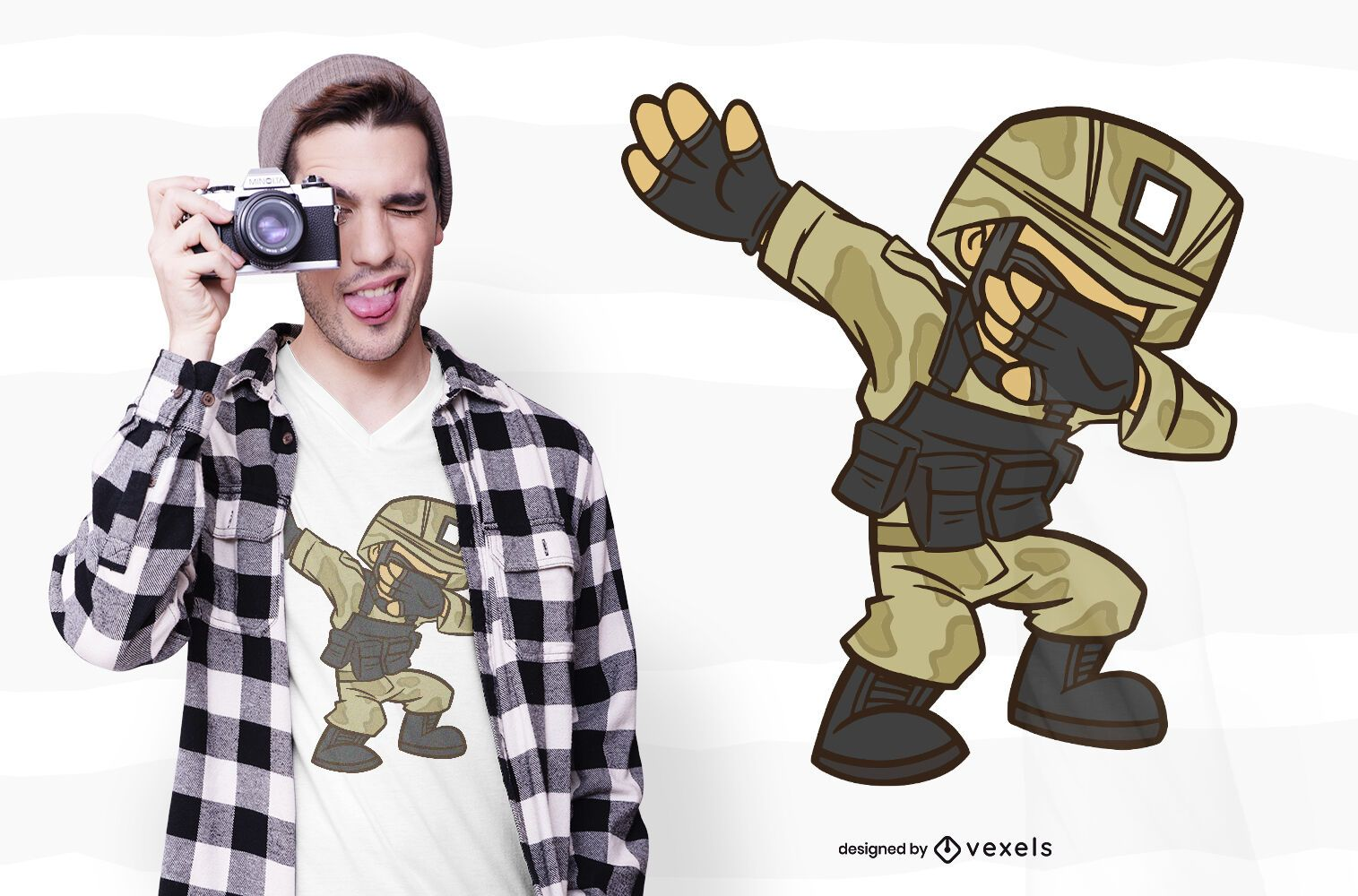 Dabbing Soldier T-shirt Design