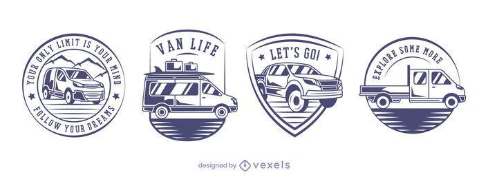 Diseño de conjunto de insignias de Vans