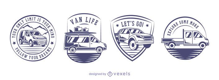 Vans badge set design