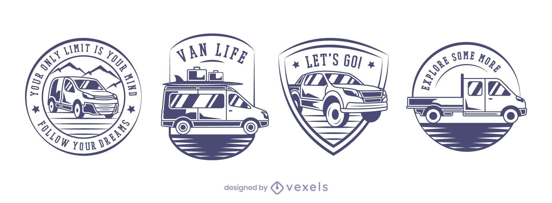 Vans badge set design