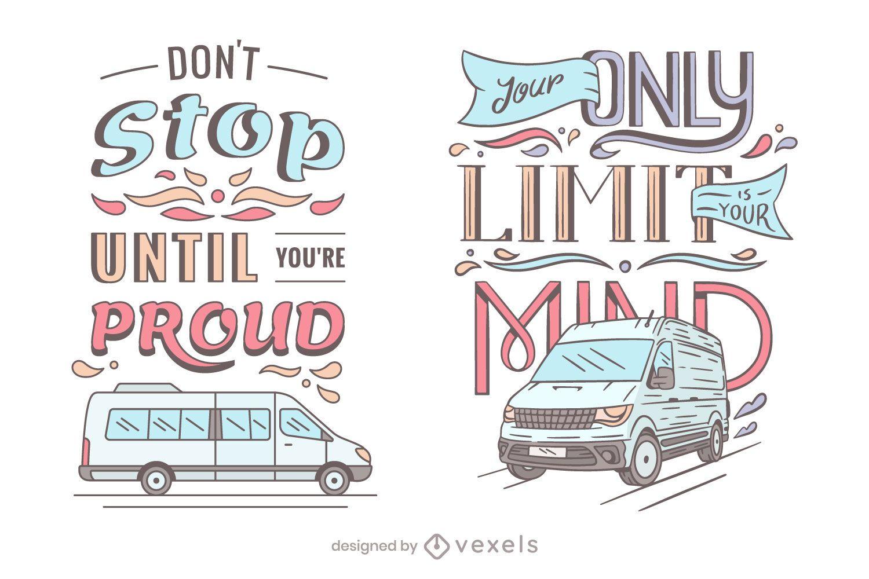 Vans lettering set design
