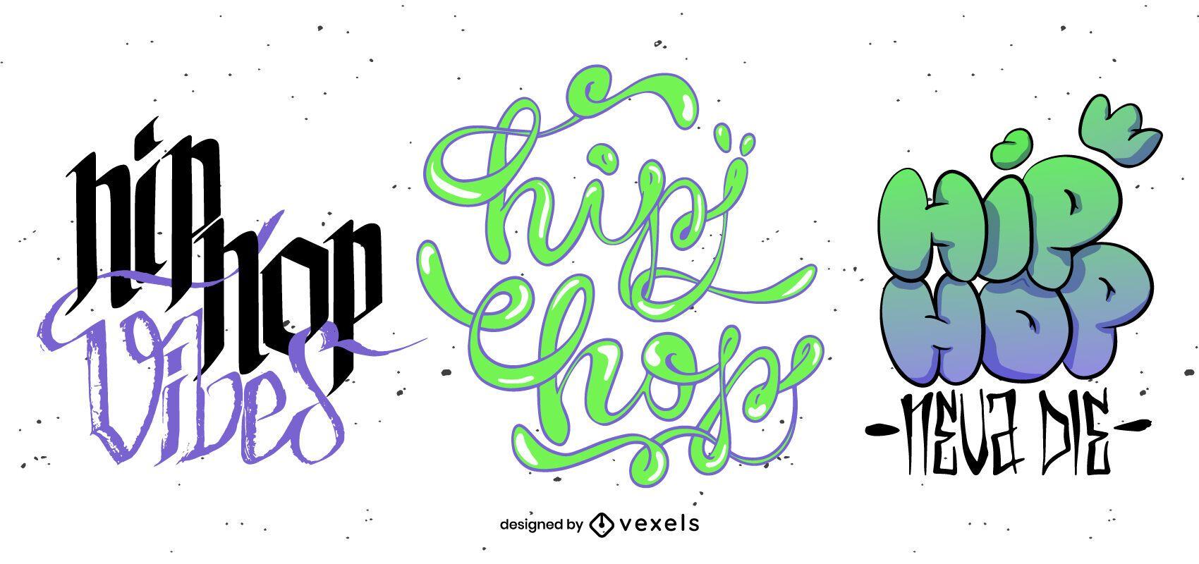 Hip Hop Schriftzug Set Design