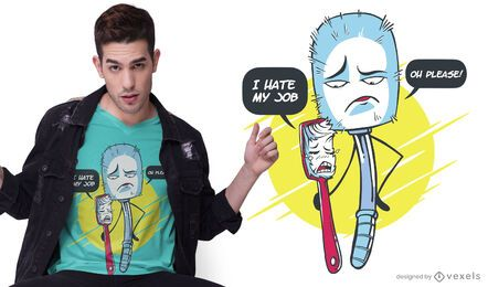 Diseño de camiseta Brush jobs