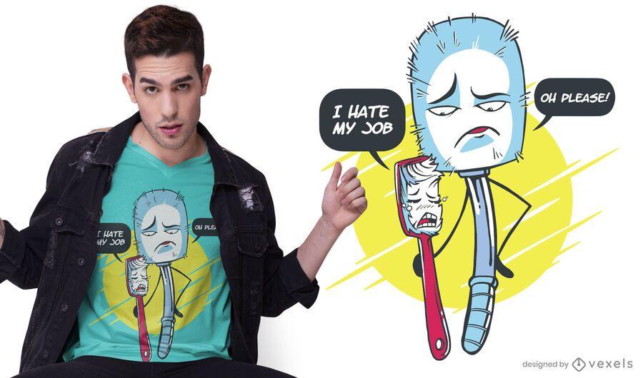 Diseño de camiseta Brush jobs